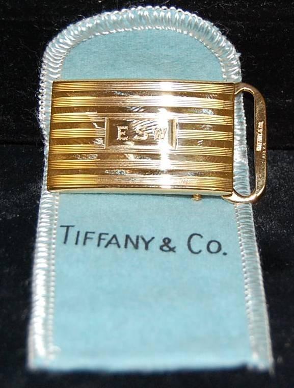 7: TIFFANY & CO. 14K GOLD VINTAGE BELT BUCKLE