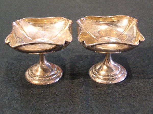 12: Pr. of Sterling Silver Art Nouveau Bon Bon Servers