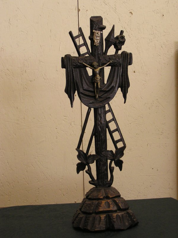 14: Hand Carved Black Forest Cross