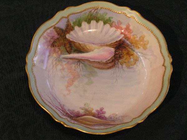 1: Hand Painted Bowl with Shell Motif