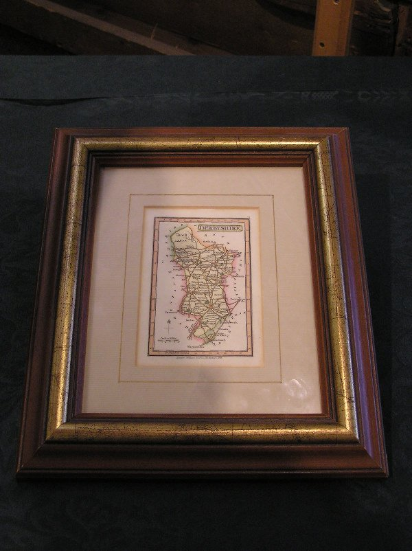 5: Early Engraving of Derbyshire, England dated 1825