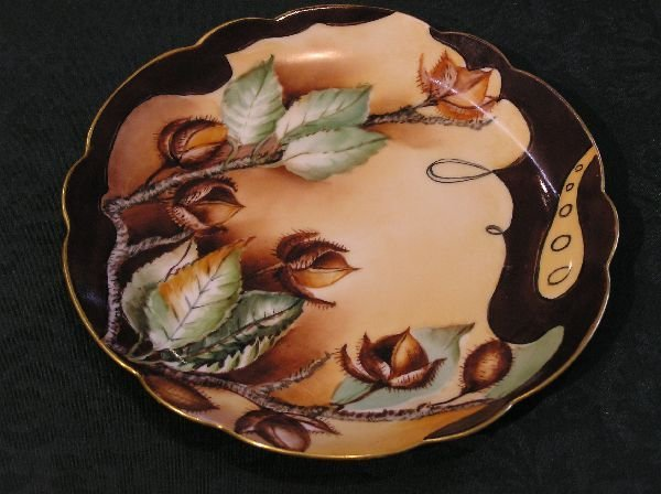 12: Rosenthal Hand Painted Chestnut Plate