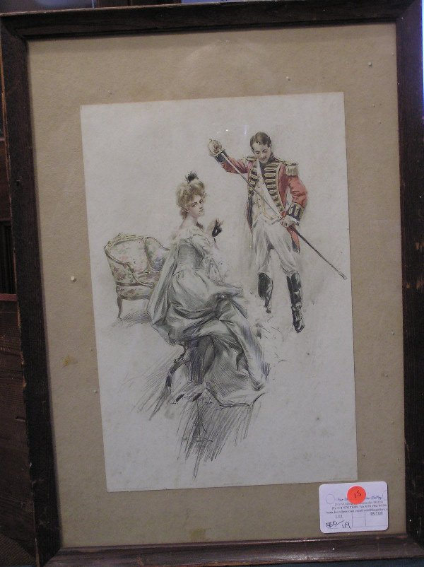15: Harrison Fisher Lithograph