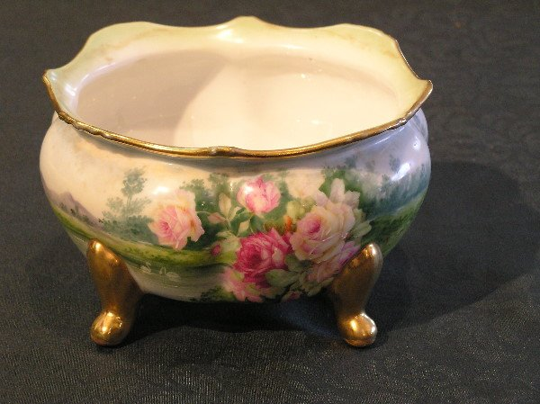 18: Imperial Crown China Scenic Footed Bowl