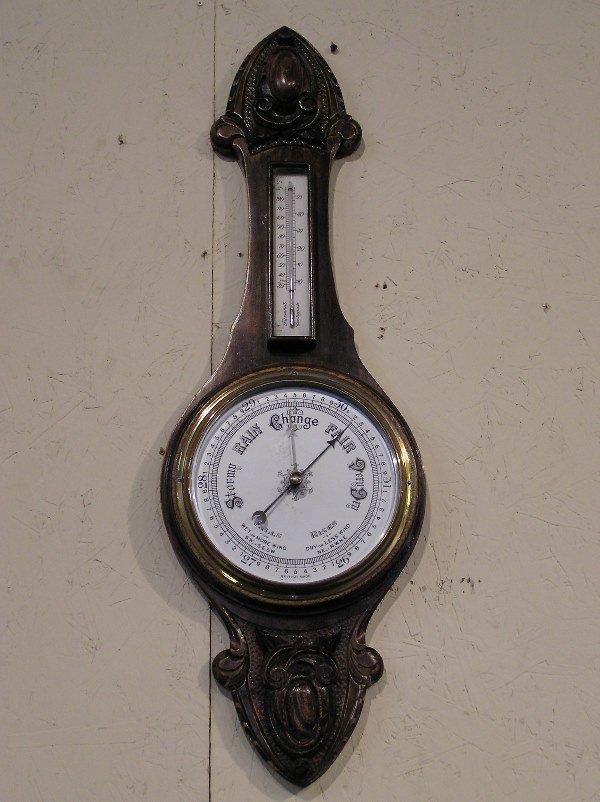 19: Carved Oak English Barometer