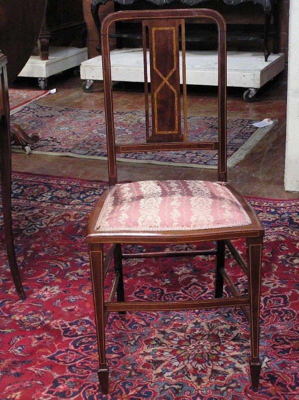 20: Inlaid Mahogany Boudoir Chair