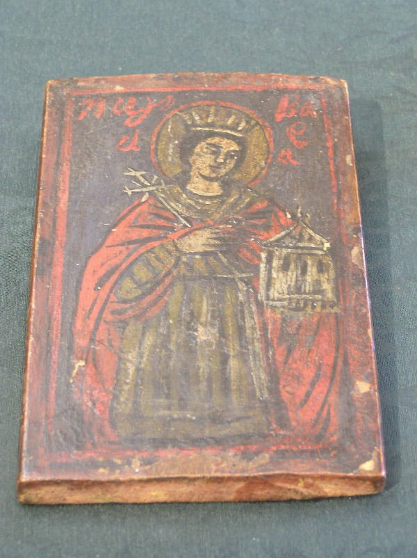 23: Hand Painted Wooden Russian Icon