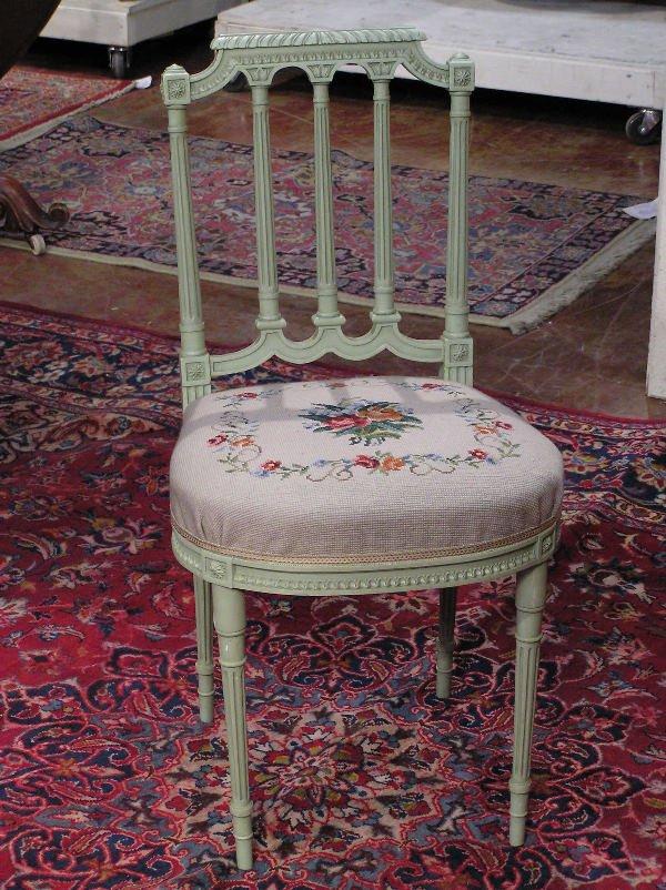 24: French Louis XVI Boudoir Chair