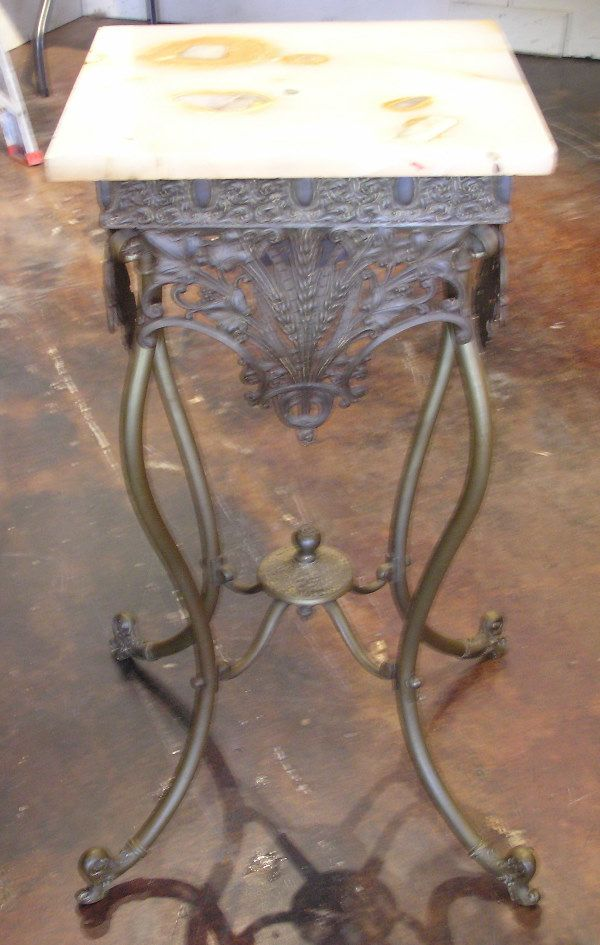 Bronze Parlor Table with Onyx Top