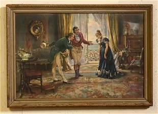Victorian Interior Parlor Scene Print
