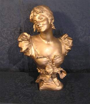 Victorian Spelter Bust of a Lady
