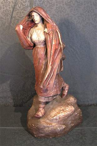 Terra Cotta Figure of a Lady with Shawl