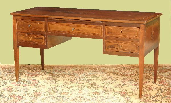 French Style Inlaid Wanlut Desk