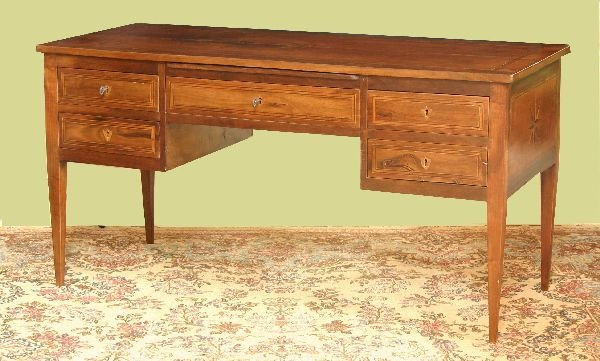10: French Style Inlaid Wanlut Desk