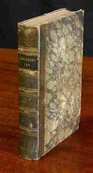 """Leather Bound Book """"The Wandering Jew"""""""