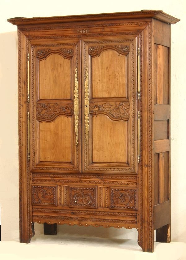 18: 19th Century French Provencial Oak Armoire