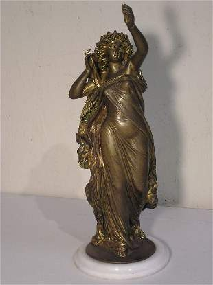 Bronze Figure of a Classically Draped Lady