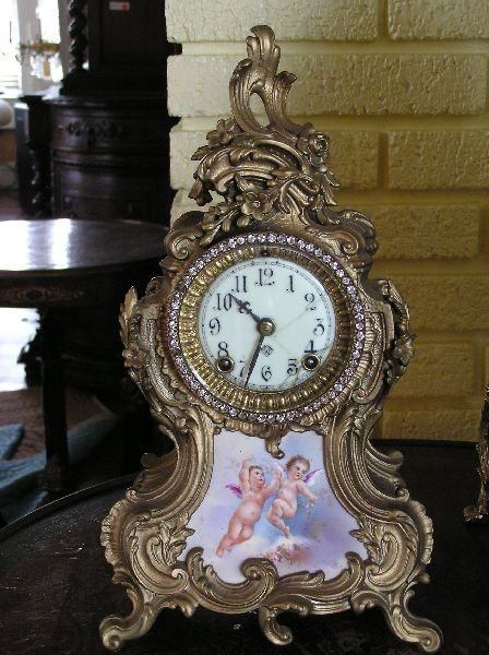 21: Ansonia Mantle Clock in French Louis XV Case