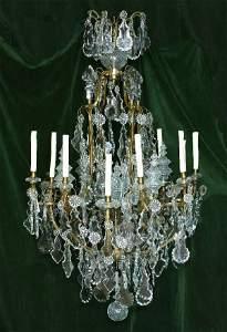 159: Baccarat Crystal Chandelier with Twelve Lights
