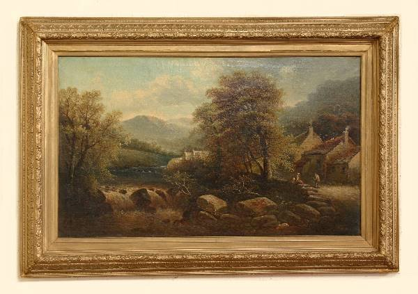 171: Artist Signed Oil on Canvas Signed Geo. Harris