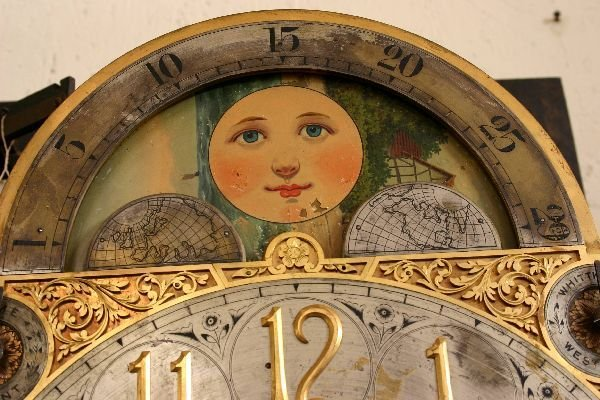 212: Gothic Oak Tiffany & Co. Grandfather Clock  - 4