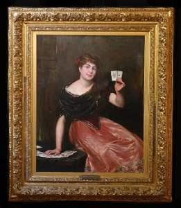 232: Oil on Canvas signed F.E. Bertier