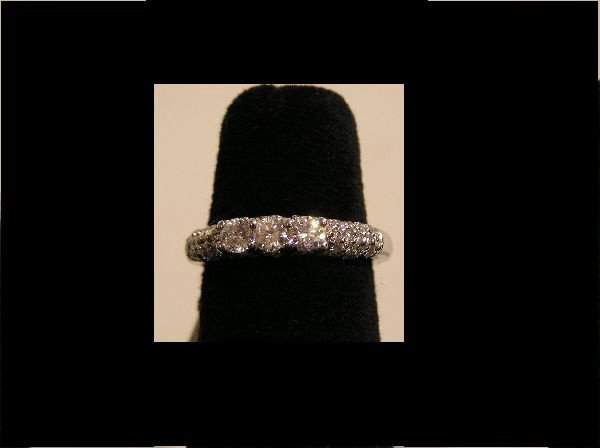 1: 14K White Gold Band with 1.10 Ct. Diamonds