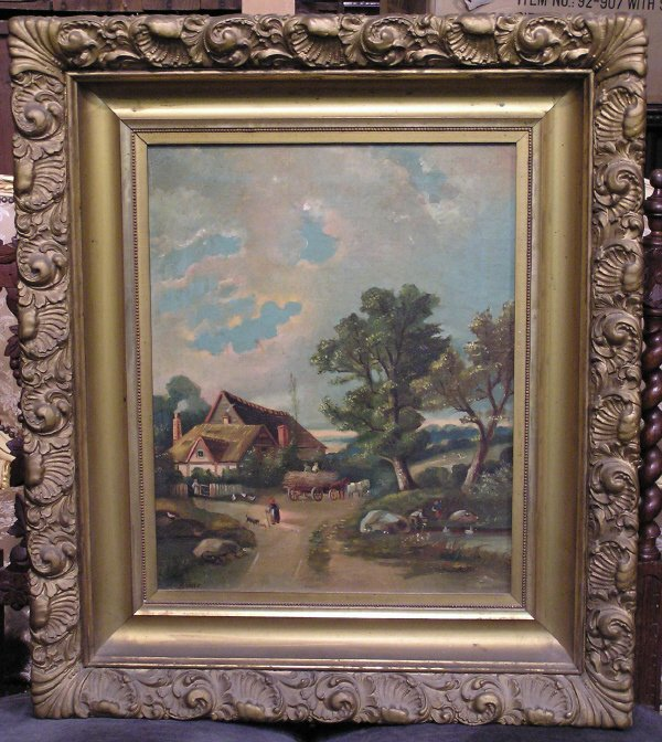 15: Artist Signed Oil on Canvas of a Farm Scene