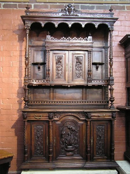 66: Carved Walnut Cabinet