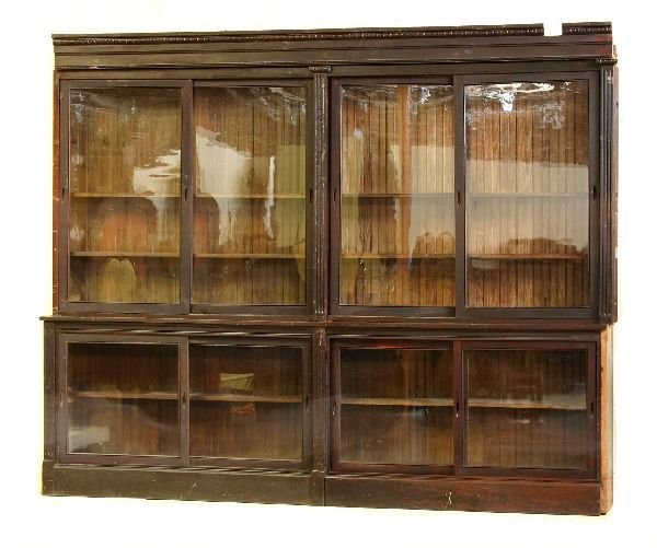 88: Pair of Sliding Door Country Store Cabinets