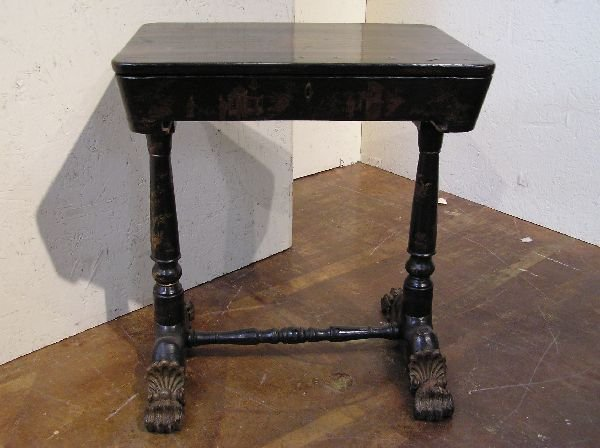 6: Chinoserie Lacquer Sewing Stand