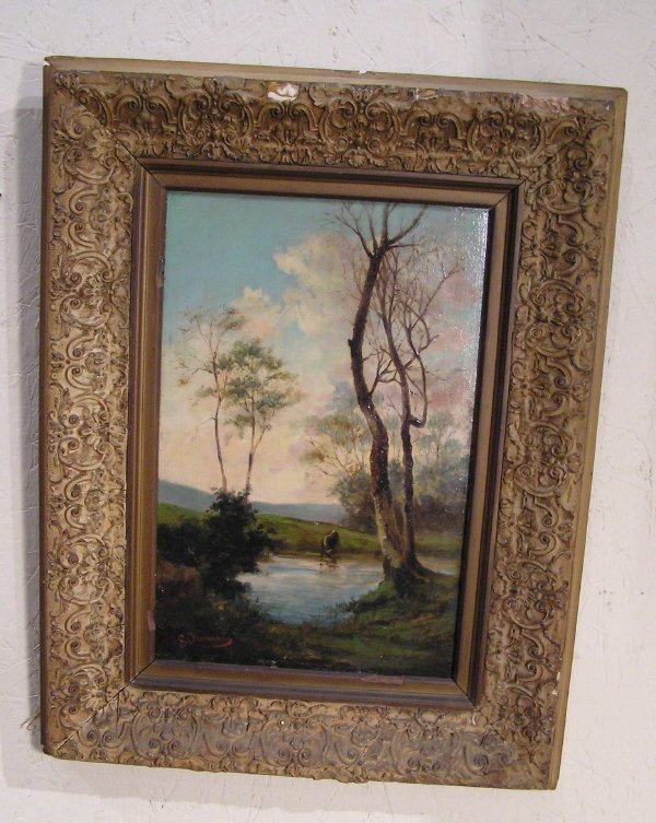 15: Artist Signed Oil on Board of a Landscape