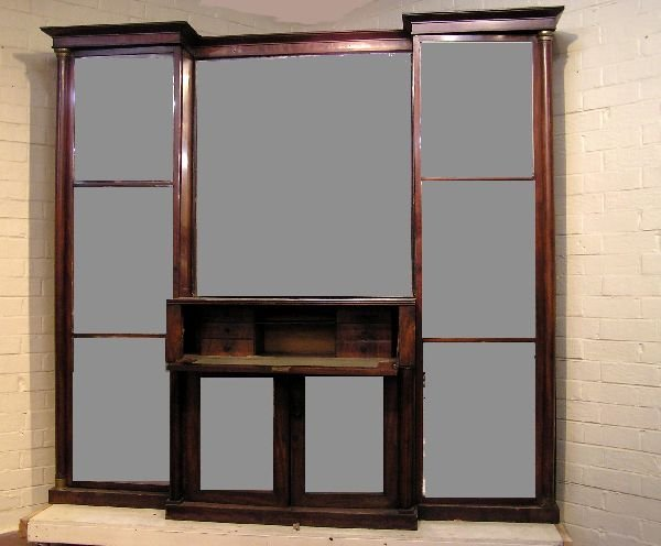 24: Regency English Mahogany Secretaire Bookcase