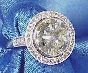 81: Fabulous 5.41 Carat Antique Diamond Ring