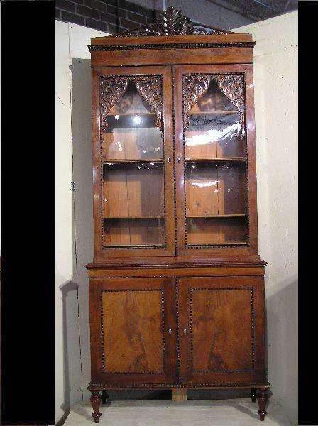 12: Empire Mahogany Bookcase