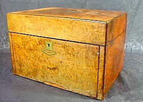 17: Burl Walnut Dresser and Jewel Box