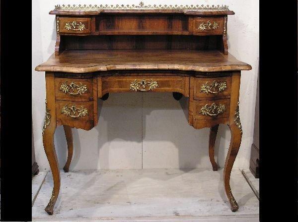 22: Venetian Burl Walnut Desk