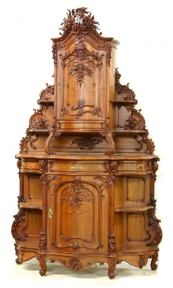 76: Highly Carved French Cabinet