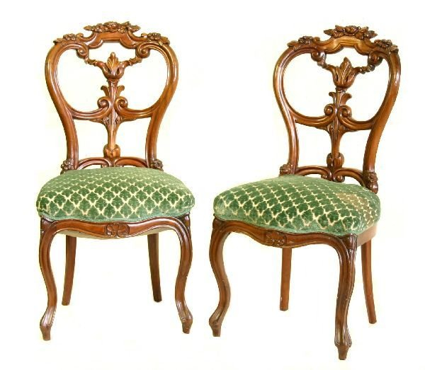 6: Pair of Balloon Back Chairs