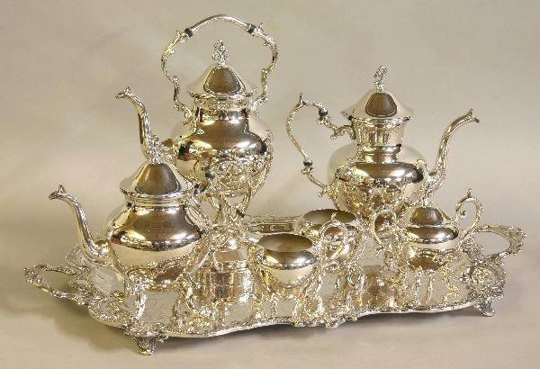 9: Silver on Copper Tea & Coffee Service