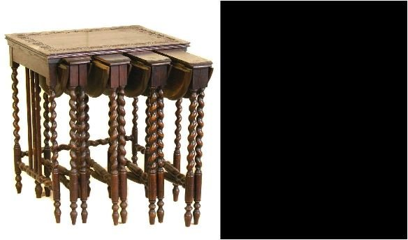 22: Barley Twist Set of Four Nest Tables