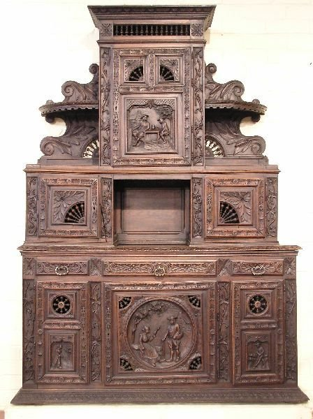 24: Carved French Normandy Cupboard