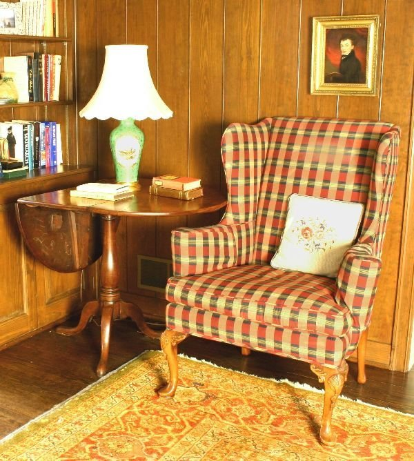 1002: Queen Anne Wing Back Chair