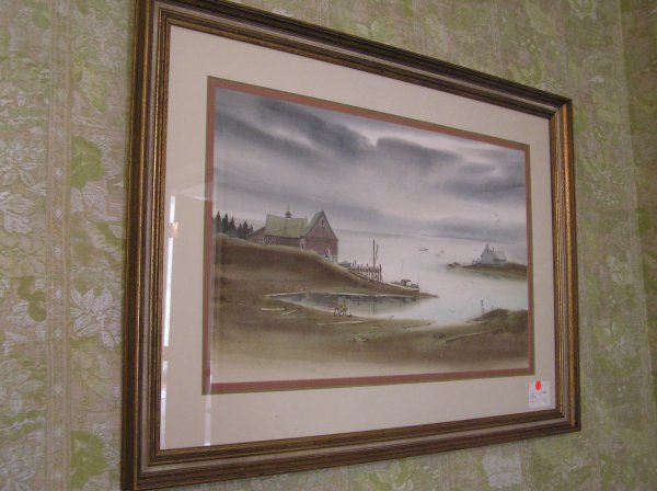 1005: Watercolor of a Water Scene Signed Robert Courjon