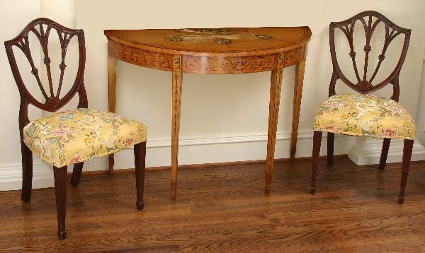 1006: Hand Painted Satinwood Console