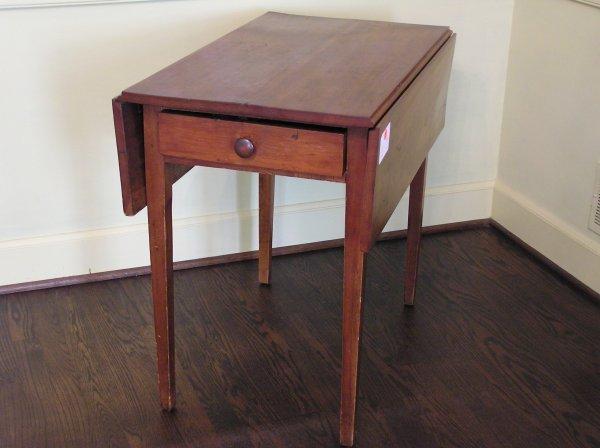1012: Cherry Pembroke Table