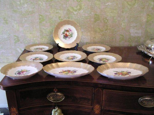 1021: Set of Spode Serving Plates