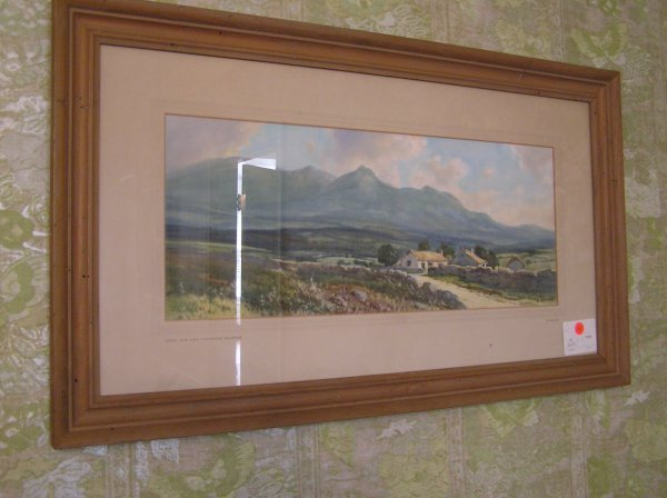 1029: Artist signed Watercolor of a Landscape