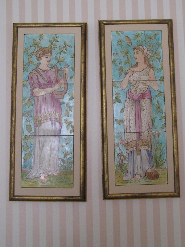 1031: Pair of Minton Hollis French Tiles