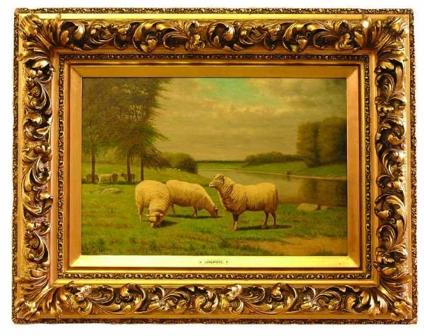 5: Artist Signed Oil on Canvas of Sheep